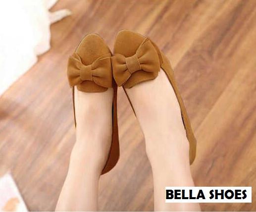 Sepatu Teplek Wanita Flat Shoes Pita Model Terbaru & Murah