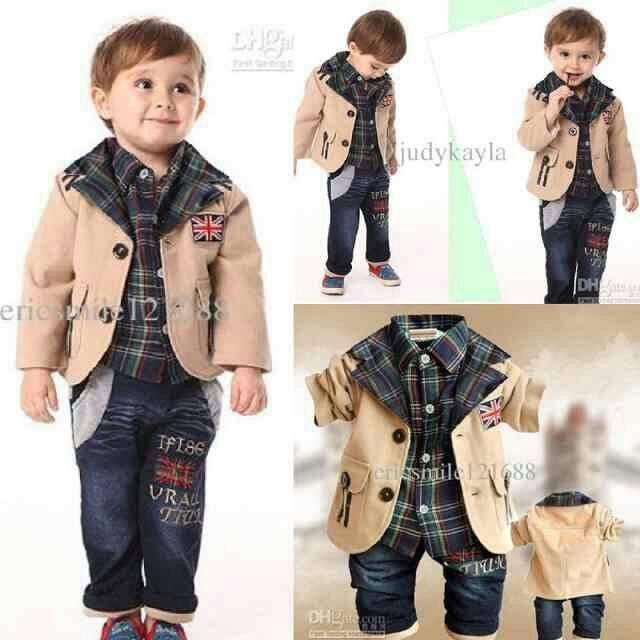 Setelan Baju Blazer & Celana Anak Laki-laki Model Terbaru & Murah