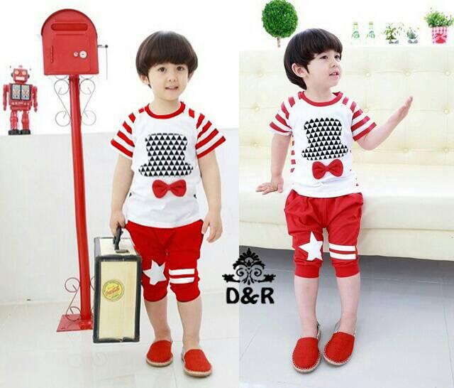Setelan Baju & Celana Pendek Anak Pria Keren Model Terbaru & Murah