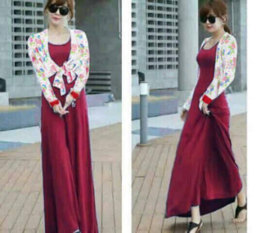 Setelan Bolero & Baju Long Dress Cantik Model Terbaru & Murah