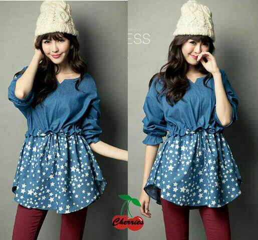 Denim Blouse Murah 40