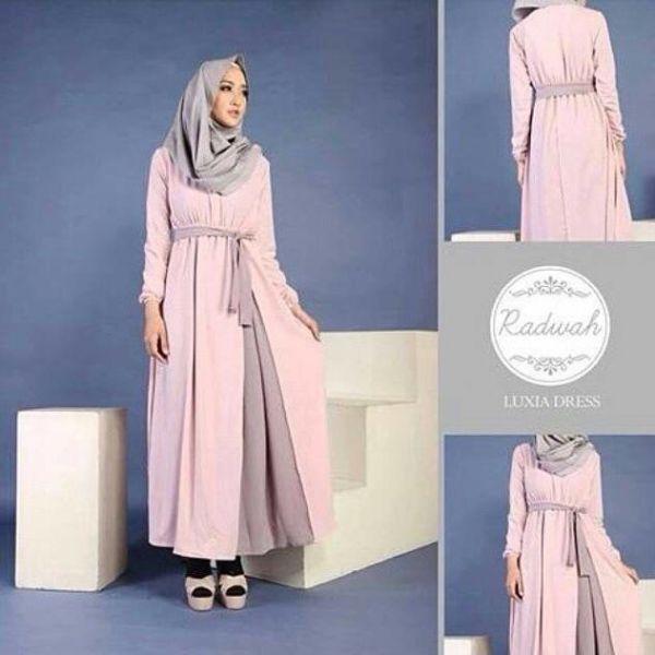 """Baju Gamis Muslim Modern Cantik """"Luxia Dress"""" Terbaru & Murah"""
