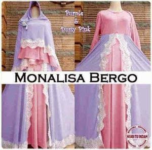 "Baju Gamis Syari ""Monalisa Bergo"" Cantik Model Terbaru & Murah"