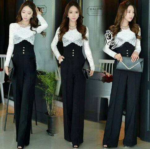 Baju Jumpsuit Brukat Cantik Model Terbaru & Murah