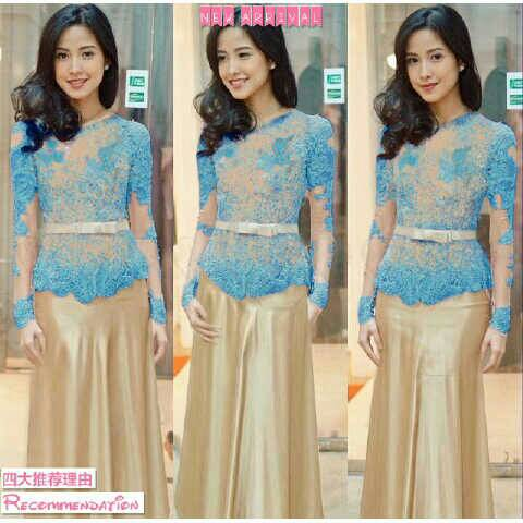 "Baju Kebaya Modern ""Vera Biru"" Model Terbaru & Murah"