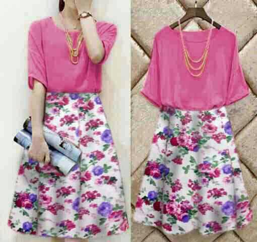 """Baju Mini Dress """"Dress Florenza"""" Wanita Korea Cantik Terbaru & Murah"""