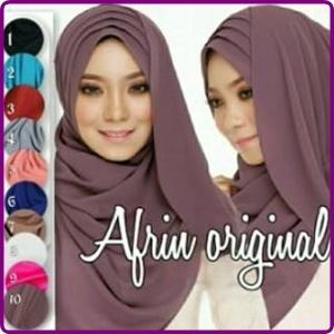 Jilbab Instan Pastan Afrin Cantik Model Terbaru & Murah