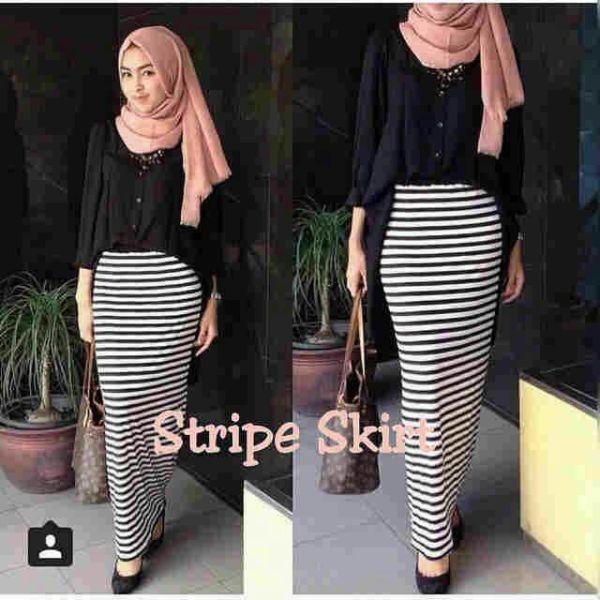 Pakaian Muslim Wanita Setelan Hijab Skine Skirt Cantik & Murah
