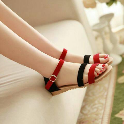 Sandal Teplek/Flat Wanita Cantik Model terbaru & Murah