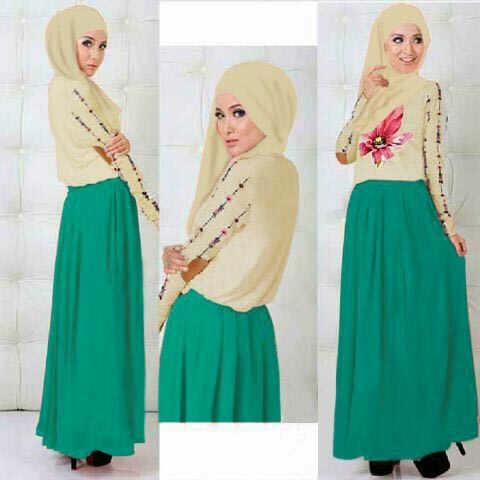 """Setelan Baju Muslim Wanita """"3in1 Roses Tosca"""" Model Terbaru & Murah"""