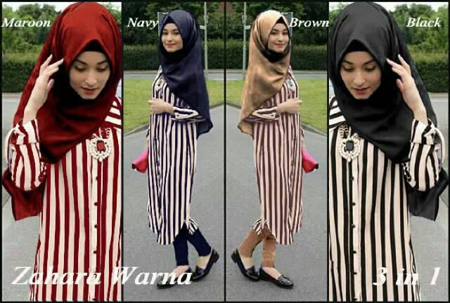 """Setelan Baju Muslim Wanita """"Zahara Salur Hijab"""" Model Terbaru & Murah"""
