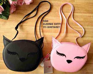 """Tas Sling Bag Wanita """"Cutie Cat"""" Model Terbaru & Murah"""