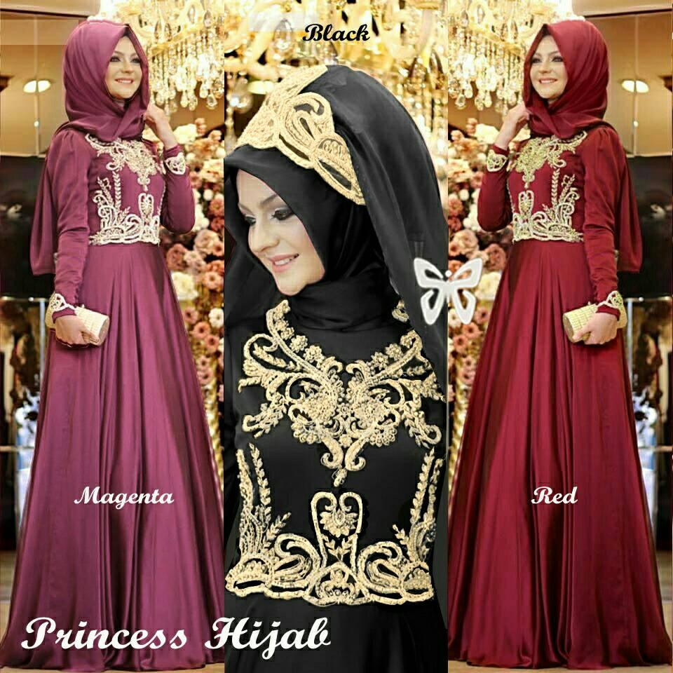 "Baju Gamis Long Dress ""Maxi Princess Hijab"" Cantik Terbaru & Murah"