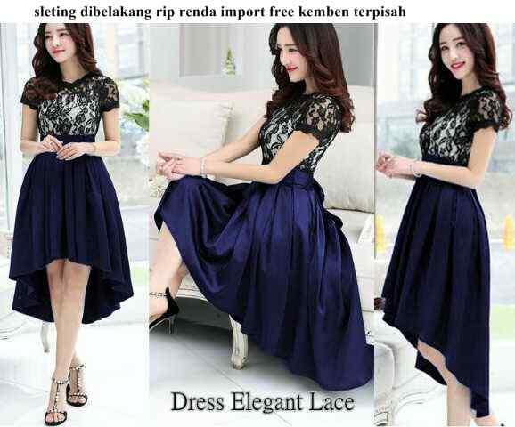 Dress Pendek Elegan Lace Tosca Model Terbaru Cantik Murah Ryn