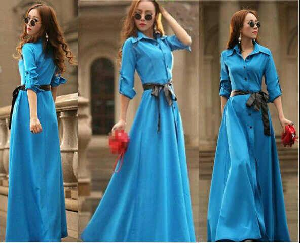 "Baju Gaun ""Sherly Long Dress"" Cantik Model Terbaru & Murah"
