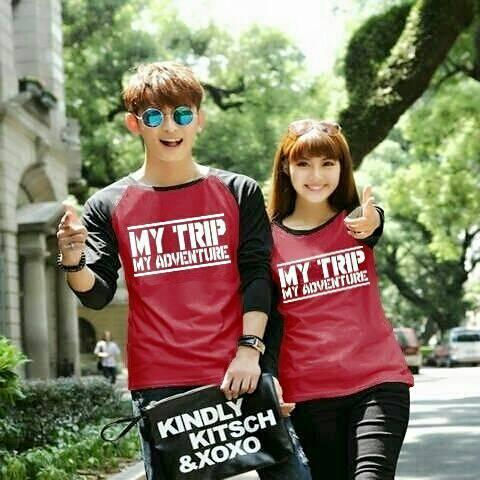Baju Kaos Couple My Trip My Adventure (MTMA) Panjang Terbaru & Murah