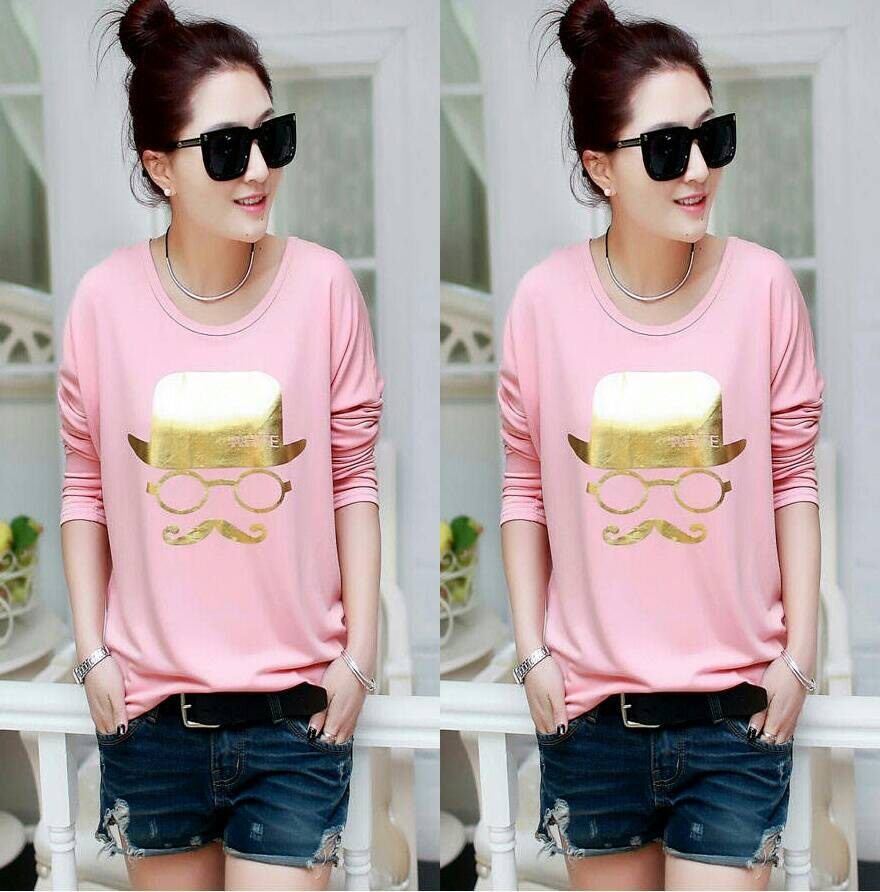 Baju Kaos Panjang Wanita (Pinky Tee) Model Terbaru Cantik & Murah