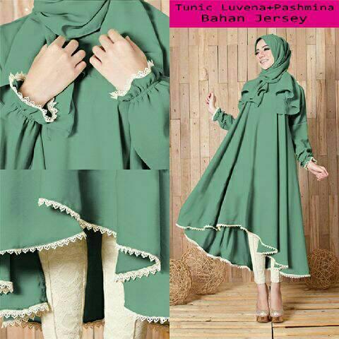 Baju Setelan Hijab 2in1 Modern Terbaru Cantik & Murah