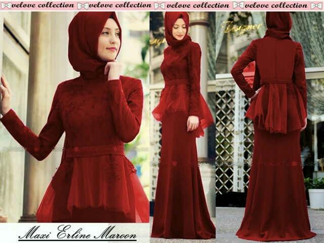 Merah Ceria Muslim Fashion Pinterest