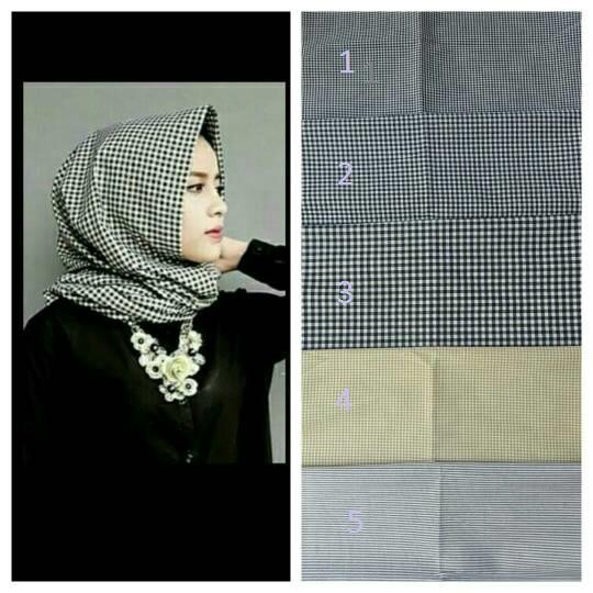 Jilbab Pashmina Motif Monochrome Cantik Model Terbaru & Murah