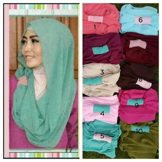 """Kerudung Hijab Cantik """"Hoodie Ring"""" Model Terbaru & Murah"""