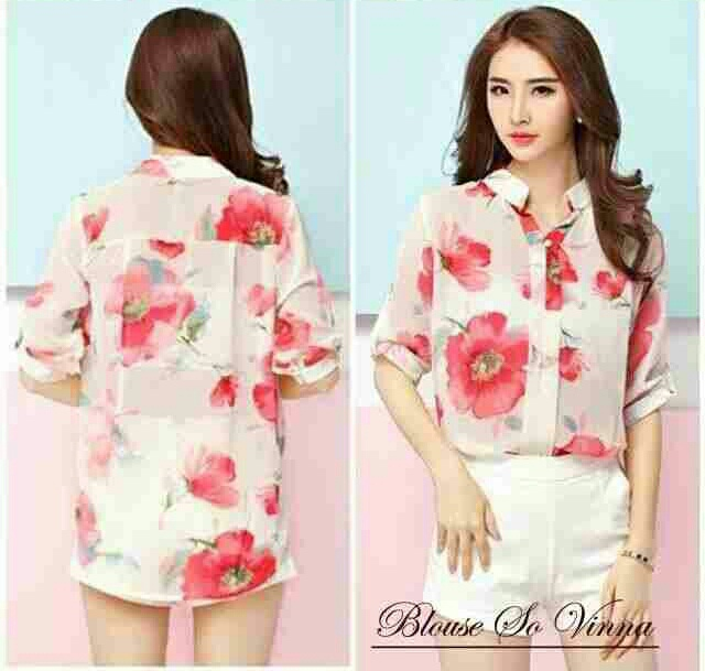 """Baju Atasan Wanita """"Flower Blouse"""" Cantik Terbaru & Murah"""