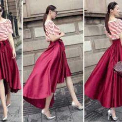 Baju Dress Belang Merah Maroon Cantik & Murah