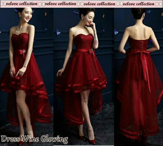 Baju Dress Maxi Glowing Merah Cantik Terbaru & Murah