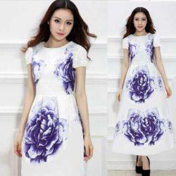 """Baju Gaun Dress Putih Panjang """"Long Dress Maxi Violet"""" Murah"""