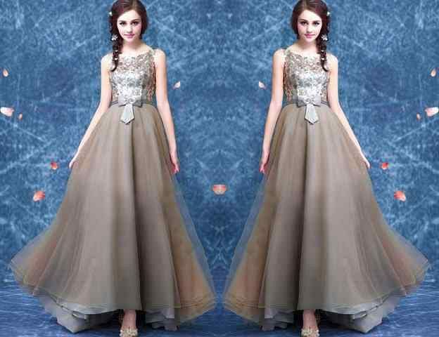 Baju Gaun Long Dress Cantik Bahan Import Model Terbaru