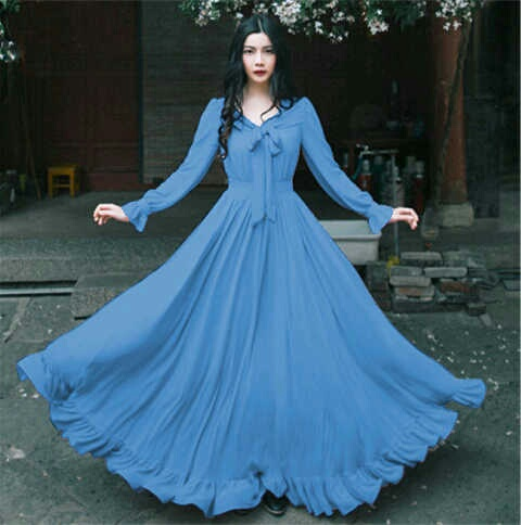 Baju Gaun Long Dress Hijab Cantik Model Terbaru & Murah