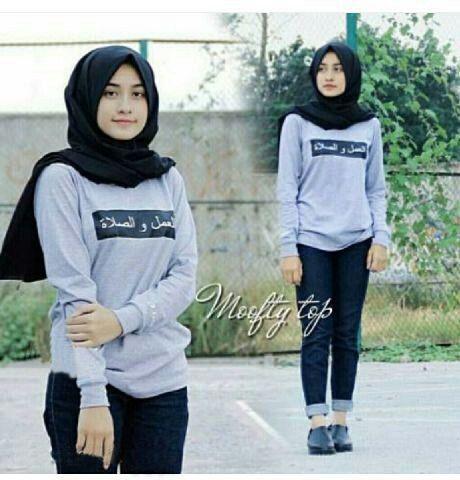 Baju Kaos Atasan Wanita Hijab Model Terbaru & Cantik