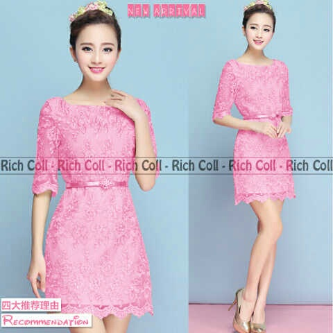 Baju Mini Dress Brukat Cantik Model Terbaru & Murah
