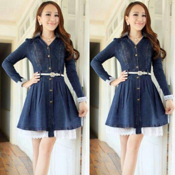 "Baju Mini ""Dress Lisa Jeans"" Model Terbaru & Murah"