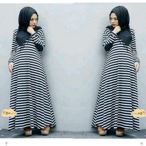 Busana Muslim Long Dress Belang Hijab Cantik & Murah