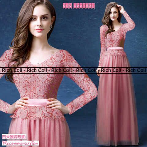 "Gaun Long Dress ""Glamour Rose"" Cantik Model Terbaru & Murah"