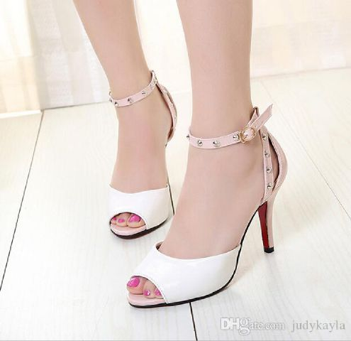 Sandal High Heels Putih Cantik Model Terbaru & Murah