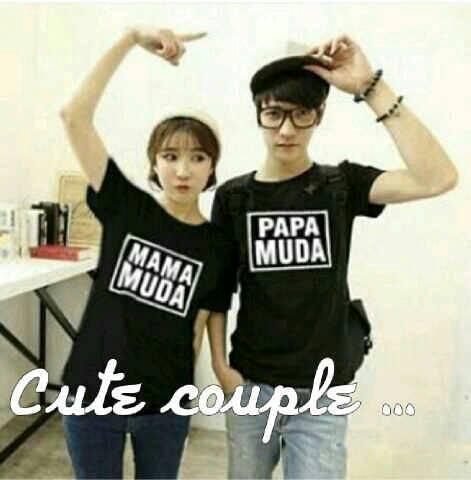 Baju Kaos Couple Pasangan Mama Muda Papa Muda Murah