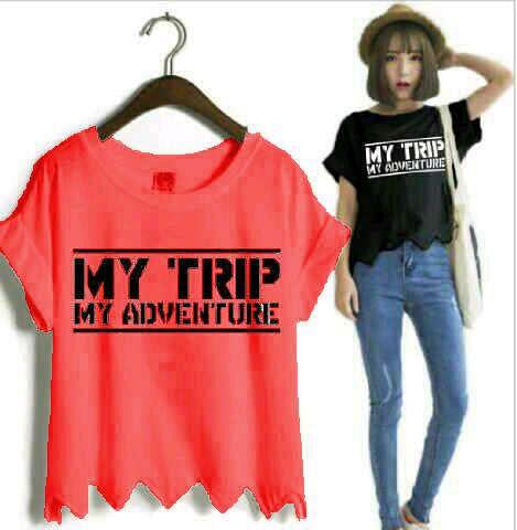 Baju Kaos My Trip My Adventure (MTMA) Pendek Cewek Terbaru & Murah