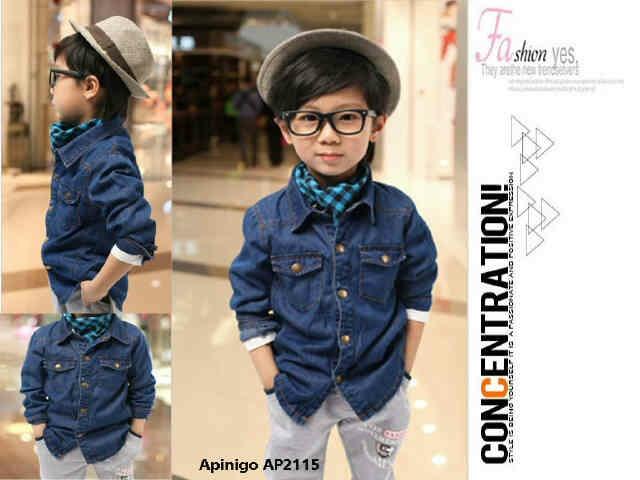 Baju Kemeja Jeans Anak Laki-laki Terbaru Keren & Murah