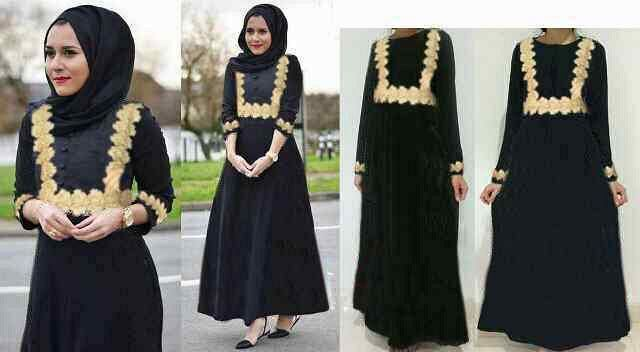 Baju Long Dress Hijab Muslim Wanita Modis & Murah
