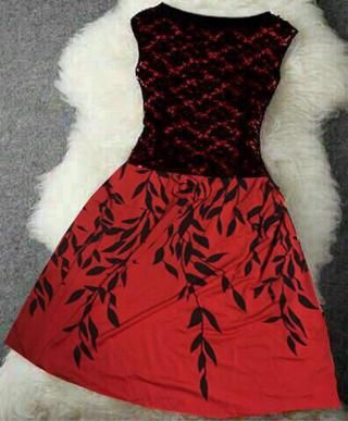 Baju Mini Dress Brukat Cantik Model Terbaru dan Murah
