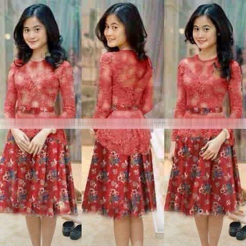 Baju Mini Dress Pendek Kebaya Batik Modern Terbaru & Murah