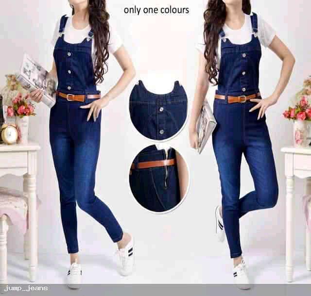 Jumpsuit Celana Kodok Jeans Model Terbaru Murah Ryn Fashion