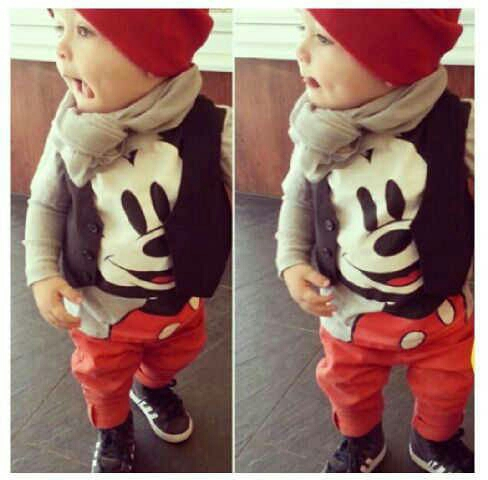 Setelan Baju Rompi & Celana Panjang Anak Laki-laki Keren & Murah