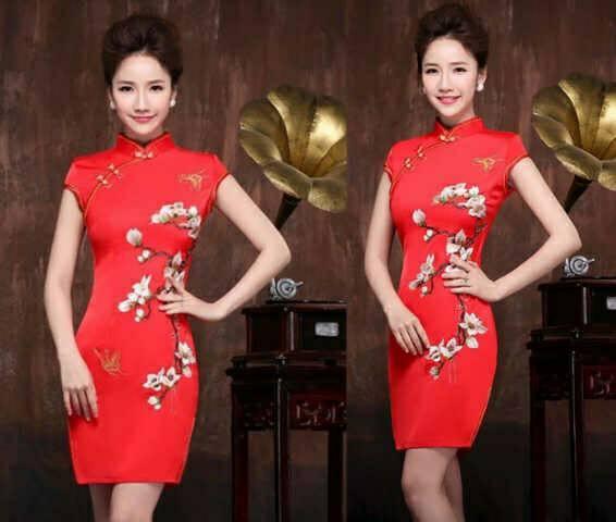 Baju Dress Cheongsam Sakura Pendek Terbaru & Cantik
