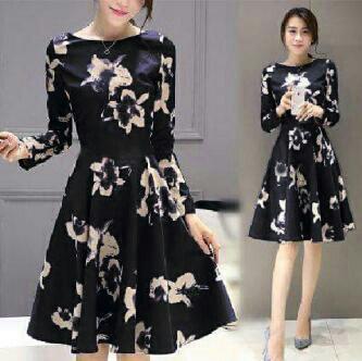 Baju Dress Hitam Pendek Lengan Panjang Cantik & Murah