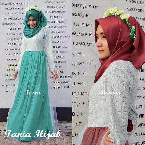 Baju Gamis Brukat Tile Hijab Modern Cantik & Murah