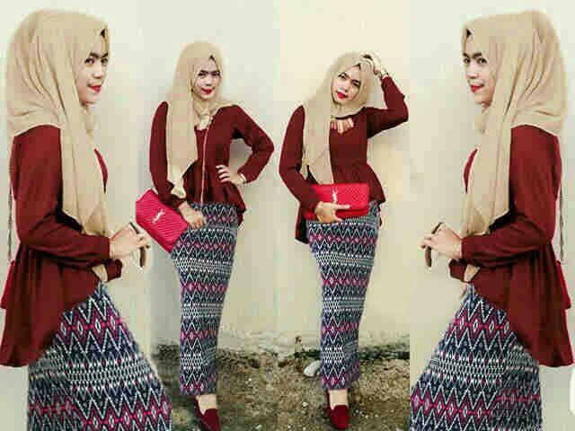 Baju Muslim Setelan Hijab Skirt 3 in 1Model Terbaru & Murah