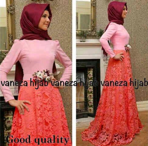 Baju Muslim Wanita Setelan Long Dress Hijab Cantik & Murah